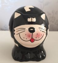 Fun Animal Shaped Children's Money Bank - Black & White Cat